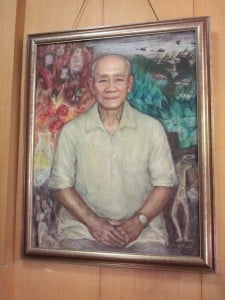 A portrait of Lin Feng Mian, a contemporary  influential Chinese artist